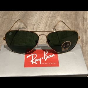 New Ray ban Aviator RB3025 L0205 Gold Green 58MM